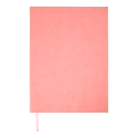 "Office Depot® Brand Leather Jumbo Journal, 8"" x 10-1/2"", College Ruled, 336 Pages, Pink"