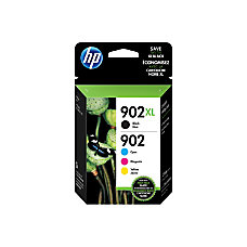 HP 902 CyanMagentaYellowBlack Ink Cartridges T0A39AN140