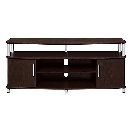 "Ameriwood™ Home Carsons Media Stand For TVs Up To 50"", Espresso"