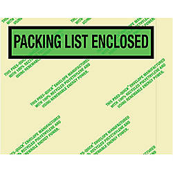 Partners Brand Environmental Packing List Enclosed