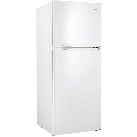 Danby Designer 10 cu. ft. Apartment Size Refrigerator - 10 ft³ - Auto-defrost - Reversible - 7.10 ft³ Net Refrigerator Capacity - 2.80 ft³ Net Freezer Capacity - 120 V AC - 297 kWh per Year - White - Smooth - Wire Shelf