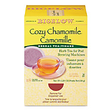 Bigelow Cozy Chamomile Herbal Tea Pods