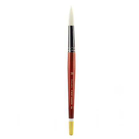Robert Simmons White Sable Short-Handle Paint Brush 789, Size 36, Round Wash Bristle, Sable Hair, Brown