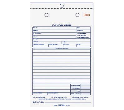 rediform 2 part job work order book 50 sheets 2 part carbonless copy
