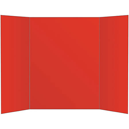 Office Depot Brand 80 Recycled Tri Fold Corrugate Display Board 36 X 48 Red Item 533865