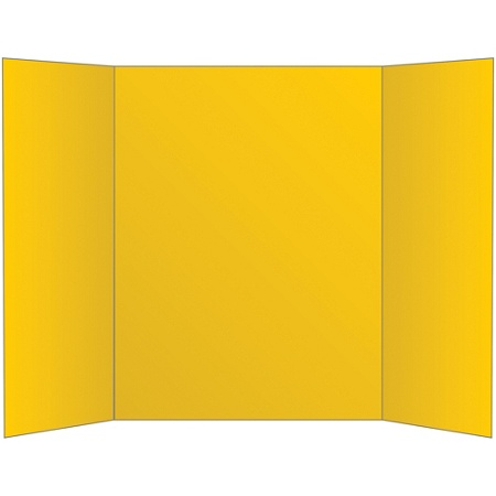 Office Depot Brand 72 Recycled Tri Fold Corrugate Display Board 36 X 48 Yellow Item 533875