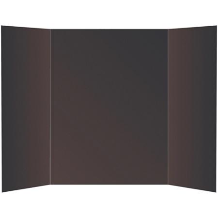 Office Depot Brand 72 Recycled Tri Fold Corrugate Display Board 36 X 48 Black Item 533905