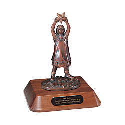 Star Polisher Statue Award Girl 8