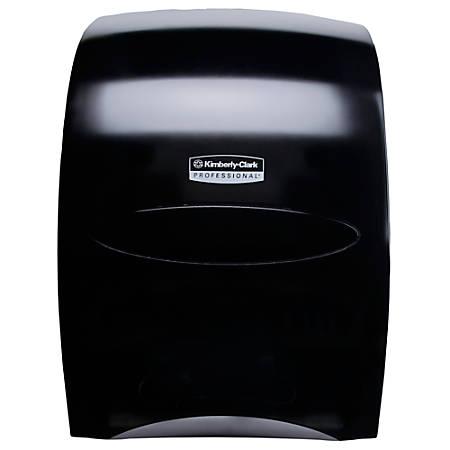 Kimberly Clark® Sanitouch Hard-Roll Towel Dispenser, Smoke Gray