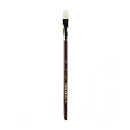 "Robert Simmons White Sable Short-Handle Paint Brush 755, 1/2"", Wash Bristle, Sable Hair, Brown"