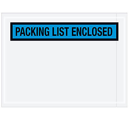 "Partners Brand Blue ""Packing List Enclosed"" Envelopes, 4 1/2"" x 6"", Case of 1,000"