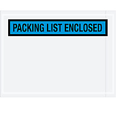 Partners Brand Blue Packing List Enclosed