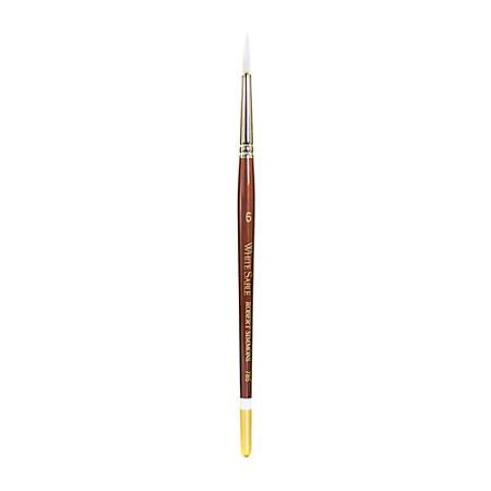 Robert Simmons White Sable Short-Handle Paint Brush 785, Size 6, Round Bristle, Sable Hair, Brown
