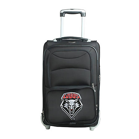 """Denco Sports Luggage NCAA Expandable Rolling Carry-On, 20 1/2"""" x 12 1/2"""" x 8"""", New Mexico Lobos, Black"""