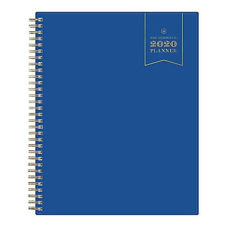 """Day Designer Monthly Wirebound Planner, 8"""" x 10"""", Navy, January To December 2020, 116902"""