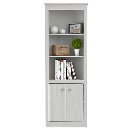 reputable site 72b0c 3dee2 Inval 5-Shelf 2-Door Corner Bookcase, 70 15/16