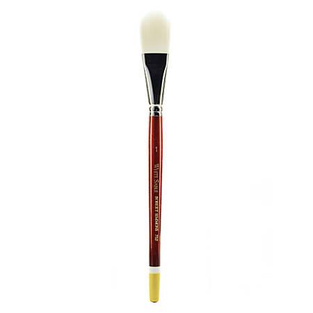 "Robert Simmons White Sable Short-Handle Paint Brush 752, 1"", Oval Wash Bristle, Sable Hair, Brown"
