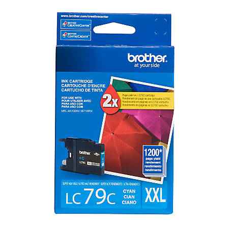 Brother® LC79C Super-High-Yield Cyan Ink Cartridge