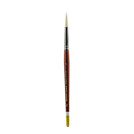 Robert Simmons White Sable Short-Handle Paint Brush 785, Size 10, Round Bristle, Sable Hair, Brown