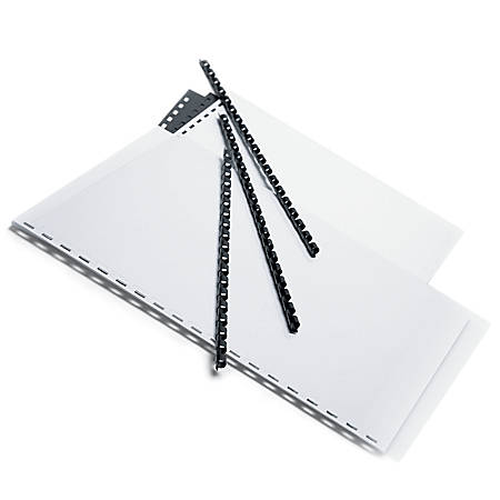 "Office Depot® Brand 1/4"" Binding Combs, 20-Sheet Capacity, Black, Pack Of 25"