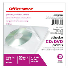 Office Depot Brand Sheet Protector CDDVD