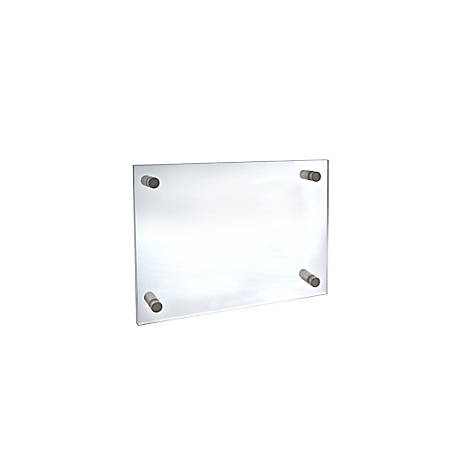 """Azar Displays Graphic-Size Acrylic Vertical/Horizontal Standoff Sign Holder, 8 1/2"""" x 5 1/2"""", Clear"""