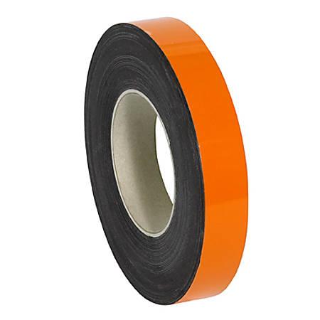 "Partners Brand Orange Warehouse Labels, LH125, Magnetic Rolls 1"" x 50', 1 Roll"