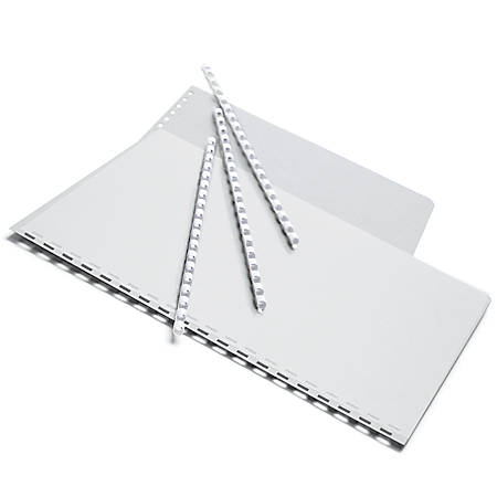"""Office Depot® Brand 1/4"""" Binding Combs, 20-Sheet Capacity, White, Pack Of 25"""
