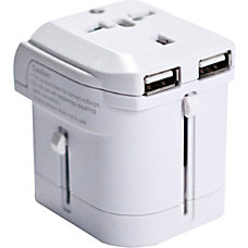 IOMagic World Travel Power Adapter White