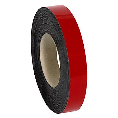 """Partners Brand Red Magnetic Warehouse Labels, LH126, Rolls 1"""" x 50', 1 Roll"""