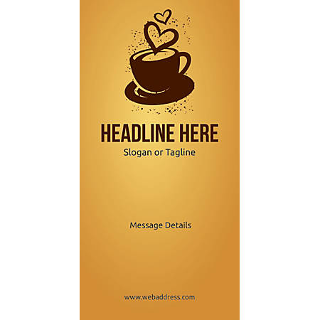 Custom Vertical Banner, Love For Coffee