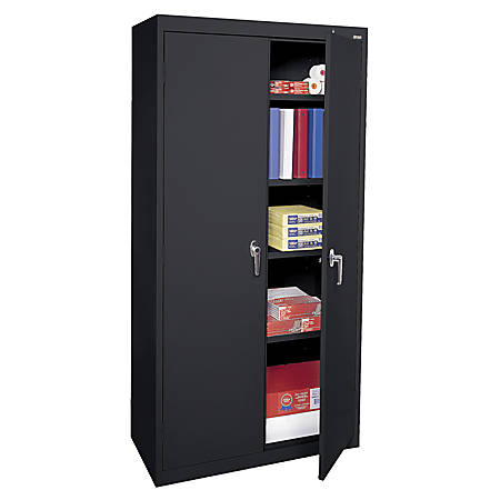 Sandusky 72 Steel Welded Embled Storage Cabinet With 4 Adjule Shelves