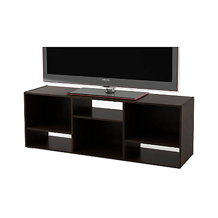 """Ameriwood™ Home TV Stand For 60"""" TVs, 21 1/4""""H x 60 7/8""""W x 15 5/8""""D, Black Forest"""