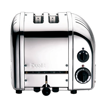 Dualit NewGen Extra-Wide Slot Toaster, 2-Slice, Polished Chrome