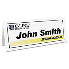 C Line InkjetLaser Name Tents 8