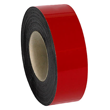 """Partners Brand Red Warehouse Labels, LH129, Magnetic Rolls 2"""" x 50', 1 Roll"""