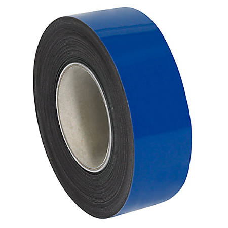 "Partners Brand Blue Warehouse Labels, LH130, Magnetic Rolls 2"" x 50', 1 Roll"