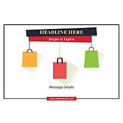 Adhesive Sign Shopping Bags Horizontal