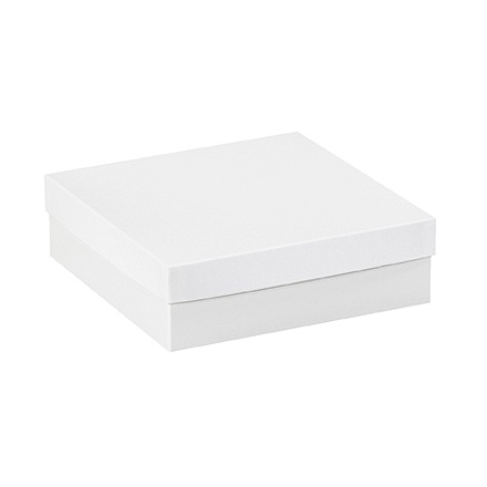 ea2bfbfde8b Partners Brand White Deluxe Gift Box Bottoms 10 x 10 x 3 Case of 50 ...