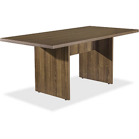 Lorell® Chateau Series Rectangular Conference Table Top, 6'W, Walnut