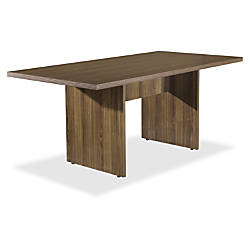 Lorell Chateau Series Walnut 6 Rectangular