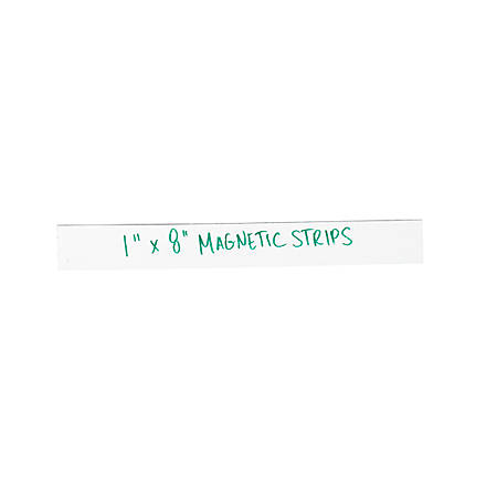 "Partners Brand White Warehouse Labels, LH174, Magnetic Strips 1"" x 8"", Case of 25"