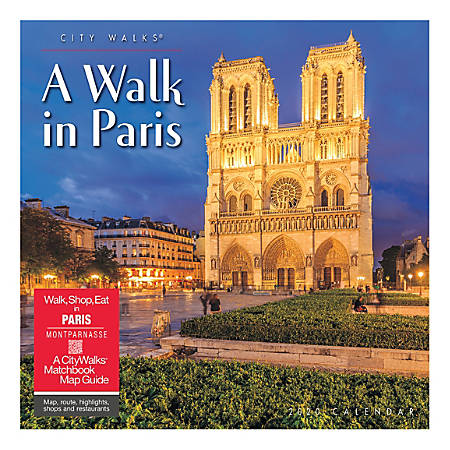 """Willow Creek Press Scenic Monthly Wall Calendar, 12"""" x 12"""", A Walk In Paris, January To December 2020"""