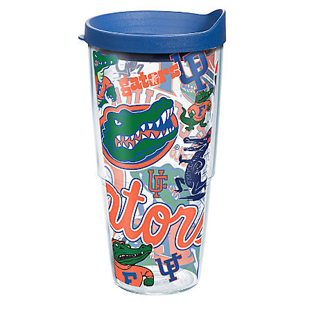 Tervis NCAA All-Over Tumbler With Lid, 24 Oz, Florida Gators