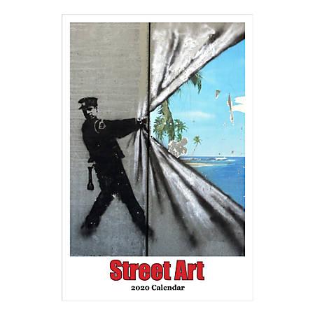 "Retrospect Street Art Monthly Wall Calendar, 19"" X 12-1/2"", January To December 2020, YC 058-20"