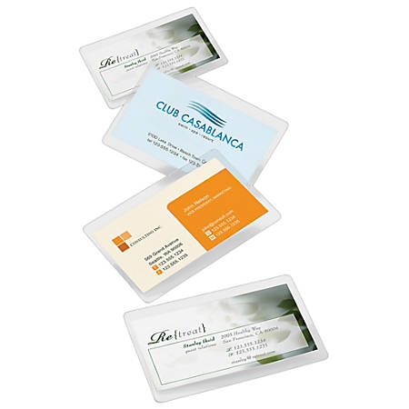 Office depot brand laminating pouches business card size 5 mil 256 office depot brand laminating pouches business colourmoves