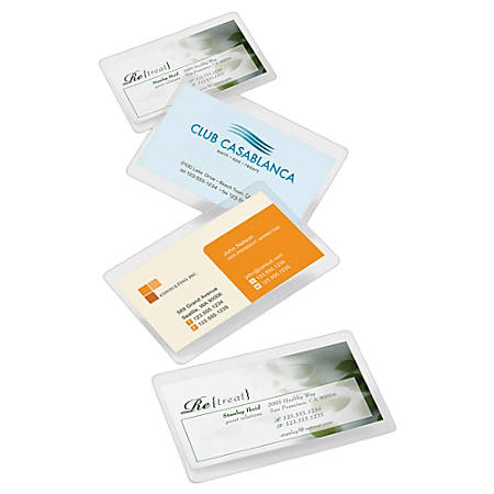 Office depot brand laminating pouches business card size 5 mil 256 office depot brand laminating pouches business reheart Images