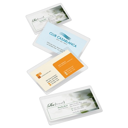 Office Depot Brand Laminating Pouches Business Card Size 5 Mil 256