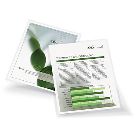 """Office Depot® Brand Laminating Pouches, Letter Size, 3 Mil, 9"""" x 11.5"""", Pack Of 25"""