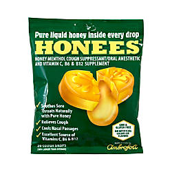 Honees Cough Drops Menthol 20 Per